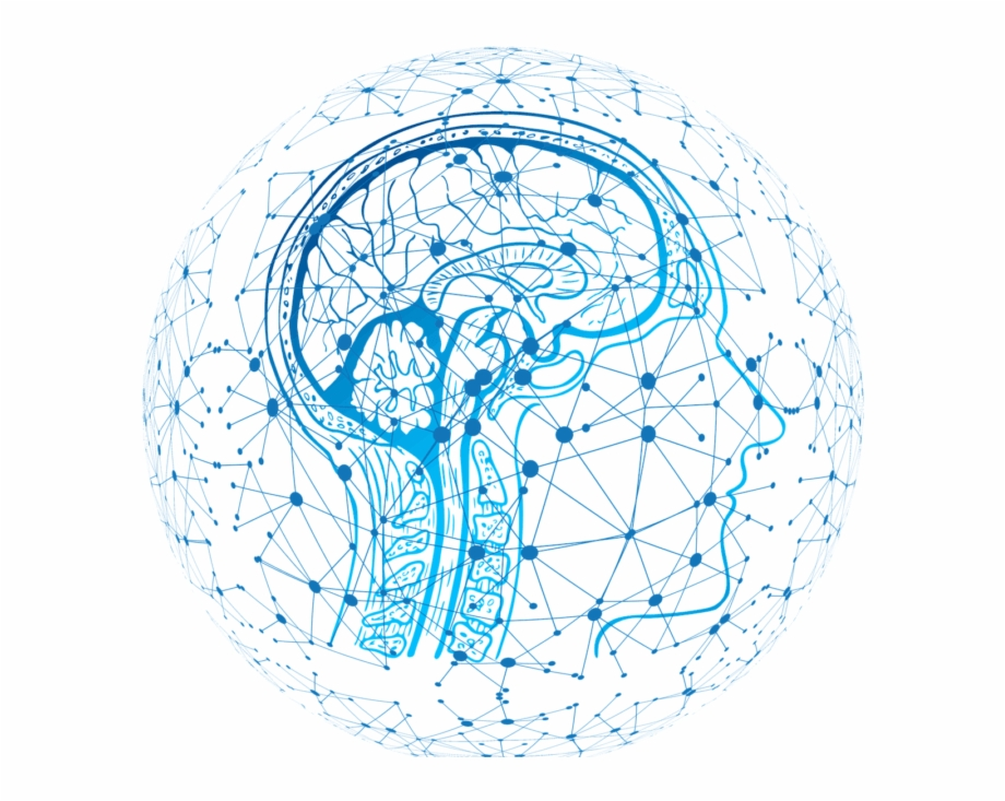 AI network surrounds a human brain